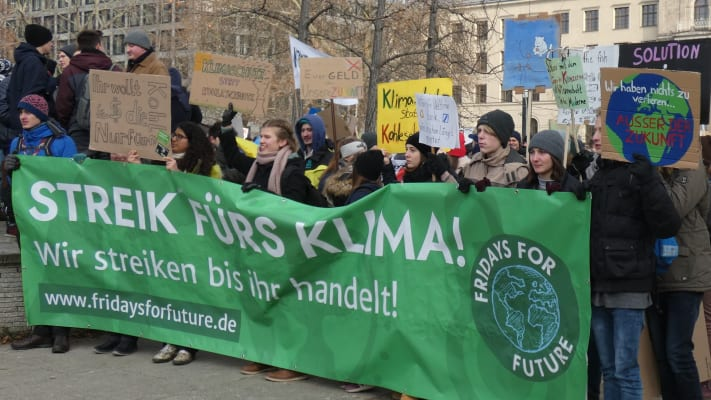 Climate change protest in Berlin
