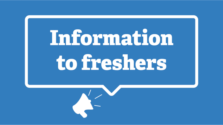 Information to freshers