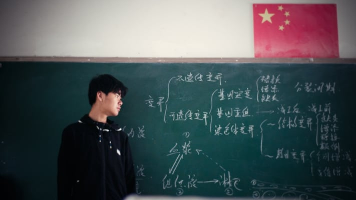 Studente cinese in classe - Chinese student in classroom