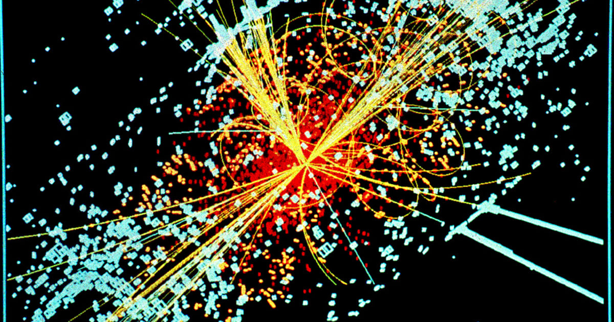 Simulated data for the CMS particle detector on LHC